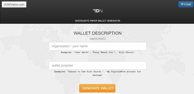 XDN Paper Wallet Tool
